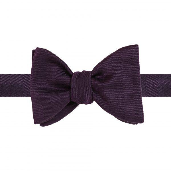 Classic 7cm Purple Herringbone tied Back
